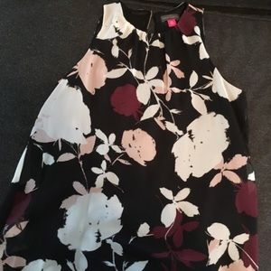 Vince camuto sleeveless floral blouse size pxs new